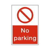 No Parking Sticker - Safety-Label.co.uk