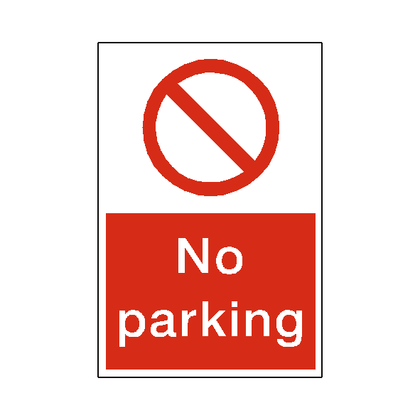 No Parking Sticker | Safety-Label.co.uk