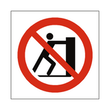 No Pushing Symbol Sign | Safety-Label.co.uk