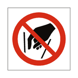 No Reaching In Symbol Sign | Safety-Label.co.uk