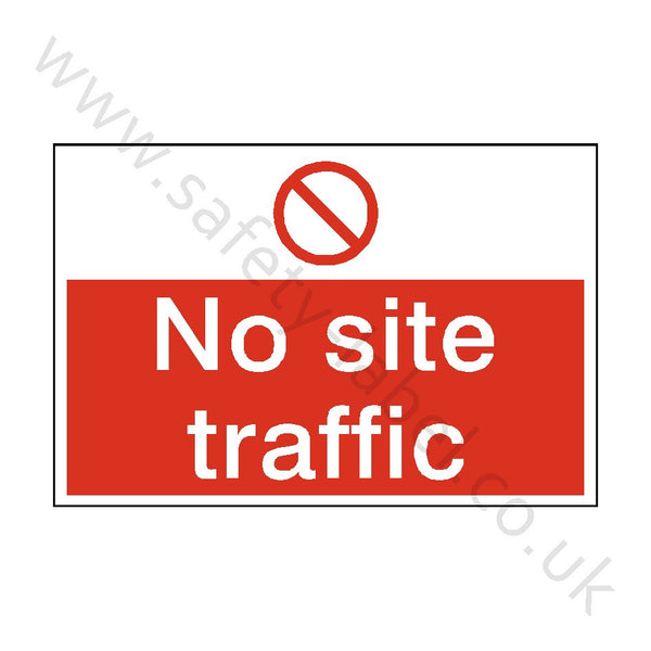 No Site Traffic Safety Sign - Safety-Label.co.uk