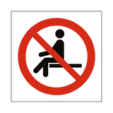 No Sitting Symbol Sign | Safety-Label.co.uk