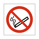 No Smoking Symbol Label - Safety-Label.co.uk