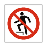 No Stepping On Surface Symbol Sign | Safety-Label.co.uk