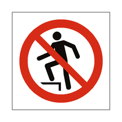 No Stepping On Surface Symbol Label - Safety-Label.co.uk