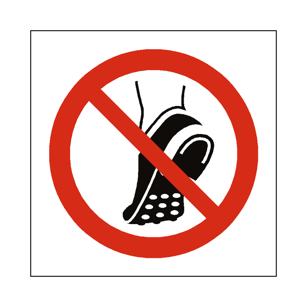 Do Not Wear Studded Shoes Symbol Sign - Safety-Label.co.uk