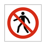 No Thoroughfare Symbol Label - Safety-Label.co.uk