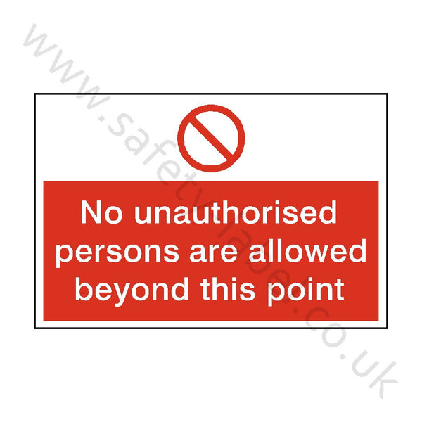No Unauthorised Persons Allowed Safety Sign - Safety-Label.co.uk