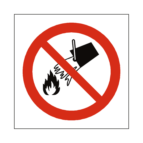 Do Not Extinguish With Water Sign | Safety-Label.co.uk