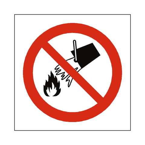 Do Not Extinguish With Water Sign - Safety-Label.co.uk