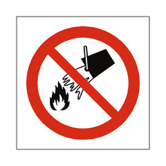 Do Not Extinguish With Water Label - Safety-Label.co.uk