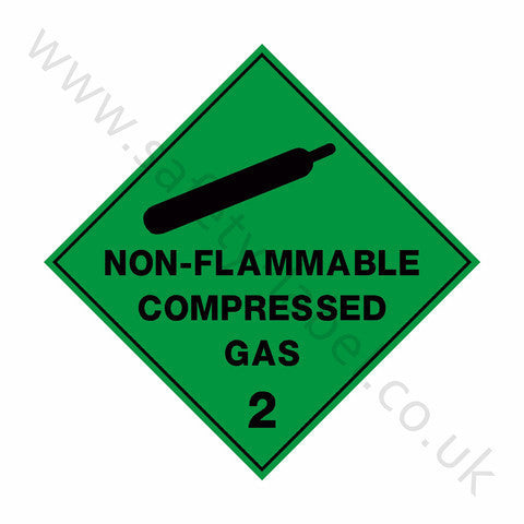 Non-Flammable Compressed Gas 2 Sign | Safety-Label.co.uk