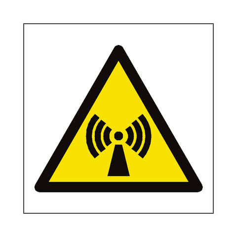 Non Ionizing Radiation Hazard Symbol Label - Safety-Label.co.uk
