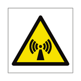 Non Ionizing Radiation Hazard Symbol Sign | Safety-Label.co.uk