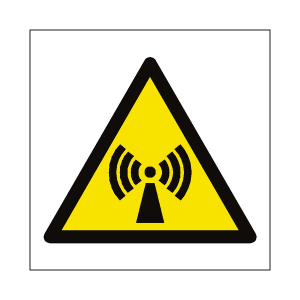 Non Ionizing Radiation Hazard Symbol Sign - Safety-Label.co.uk