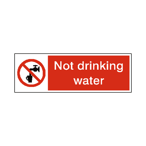Not Drinking Water Sign - Safety-Label.co.uk
