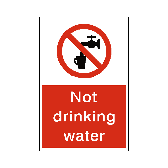 Not Drinking Water Sticker - Safety-Label.co.uk