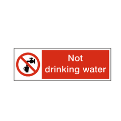 Not Drinking Water Label - Safety-Label.co.uk