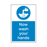 Wash Your Hands Mandatory Sign - Safety-Label.co.uk