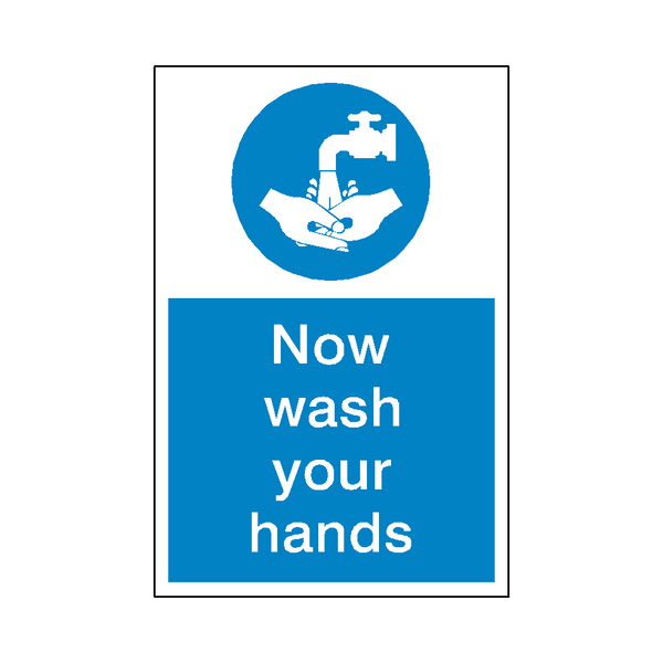 Wash Your Hands Sticker | Safety-Label.co.uk