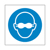 Opaque Eye Protection Symbol Sign | Safety-Label.co.uk