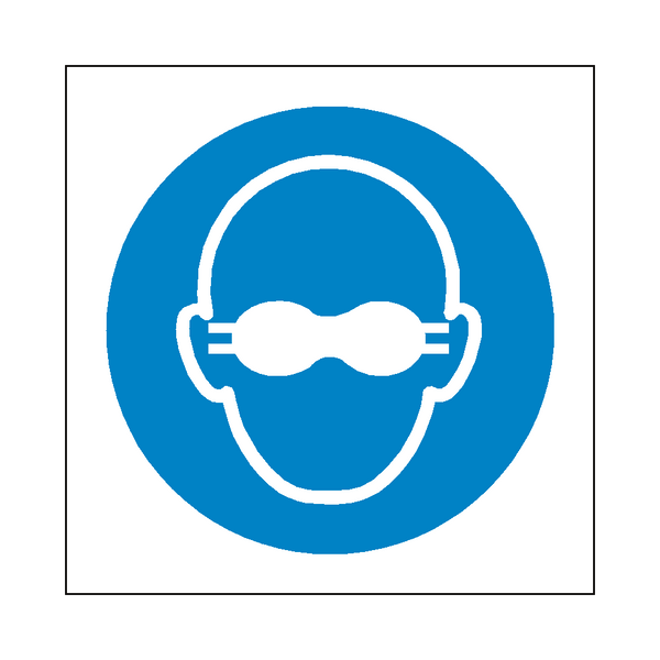 Opaque Eye Protection Symbol Sign - Safety-Label.co.uk