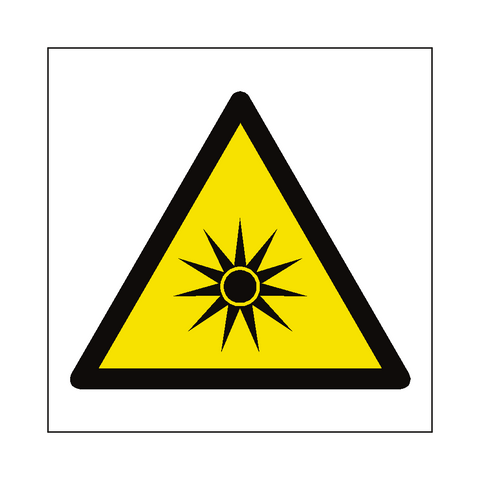 Optical Radiation Hazard Symbol Label - Safety-Label.co.uk