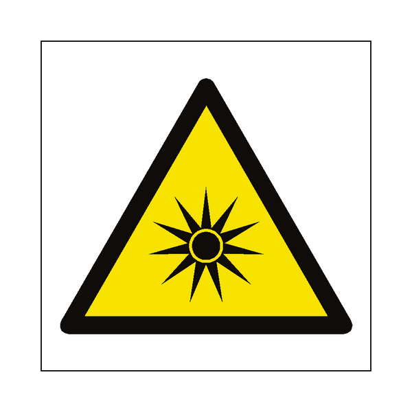 Optical Radiation Hazard Symbol Sign - Safety-Label.co.uk