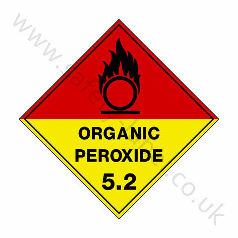 Organic Peroxide 5.2 Sign - Safety-Label.co.uk