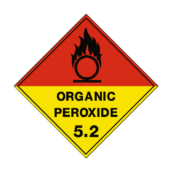 Organic Peroxide 5.2 Label | Safety-Label.co.uk