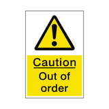 Out Of Order Hazard Sign | Safety-Label.co.uk