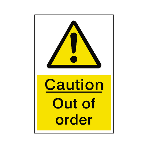 Out Of Order Hazard Sign - Safety-Label.co.uk