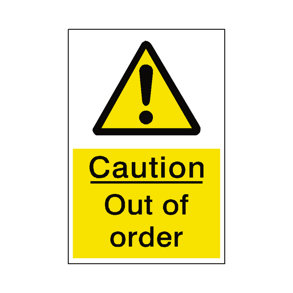 Out of order sticker