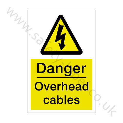 Overhead Cables Safety Sign - Safety-Label.co.uk