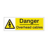 Overhead Cables Label | Safety-Label.co.uk
