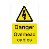Overhead Cables Sticker | Safety-Label.co.uk