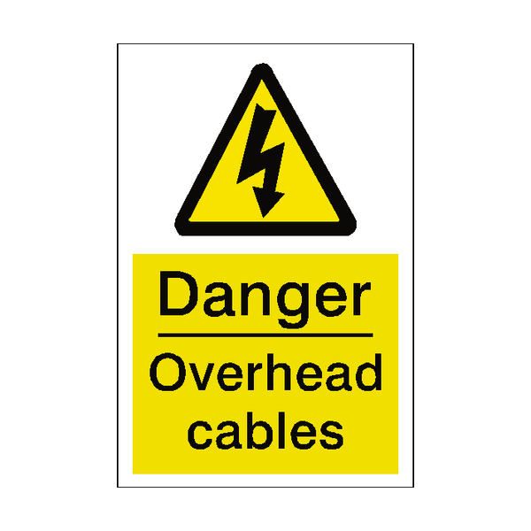 Overhead Cables Sticker Safety Label Co Uk Safety