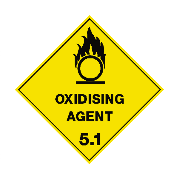 Oxidising Agent 5.1 Label | Safety-Label.co.uk