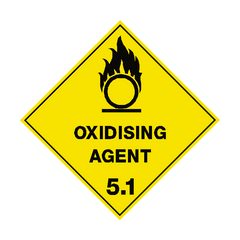 Oxidising Agent 5.1 Label - Safety-Label.co.uk