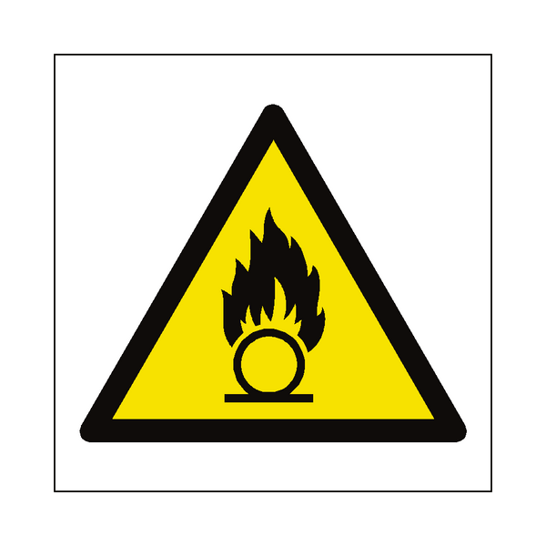 Oxidising Hazard Symbol Label | Safety-Label.co.uk