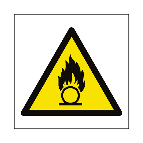 Oxidising Hazard Symbol Label - Safety-Label.co.uk