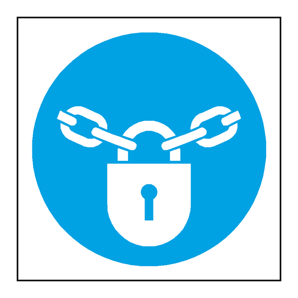 Keep Locked Symbol Door Sticker - Safety-Label.co.uk