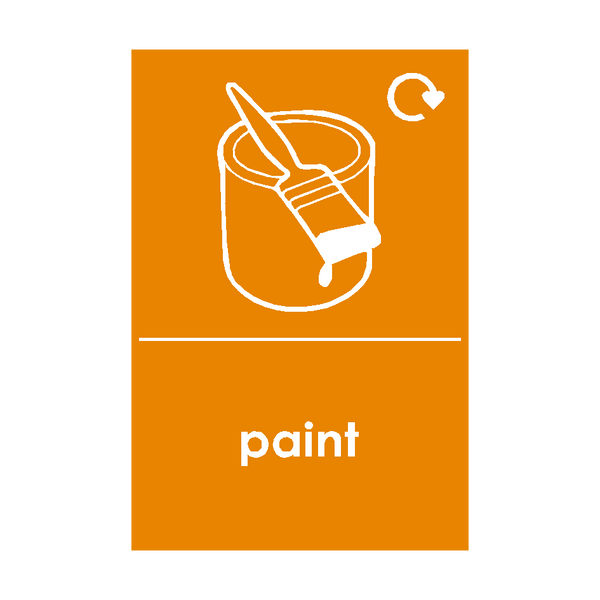 Paint Waste Recycling Sticker | Safety-Label.co.uk
