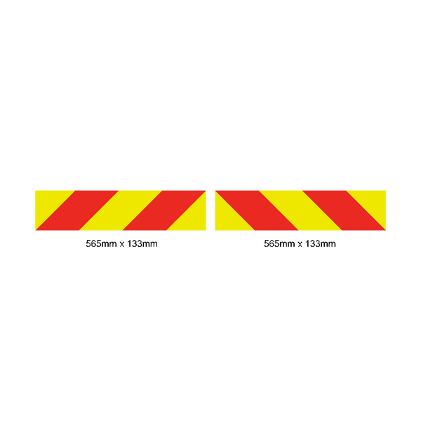 CrossRail Chevron Reflective Signs / Pack of 2 | Safety-Label.co.uk