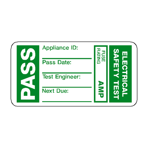 PAT Test Pass Label - Safety-Label.co.uk
