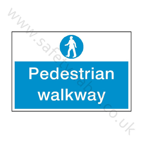Pedestrian Walkway Safety Sign - Safety-Label.co.uk