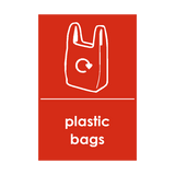 Plastic Bags Waste Recycling Sticker | Safety-Label.co.uk