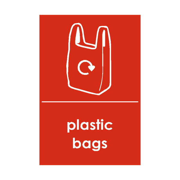 Plastic Bags Waste Recycling Sticker - Safety-Label.co.uk