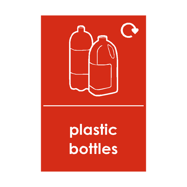 Plastic Bottles Waste Recycling Signs - Safety-Label.co.uk