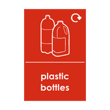 Plastic Bottles Waste Recycling Sticker - Safety-Label.co.uk